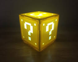 Mario Question Mark Block Lamp by Question Block Etsy