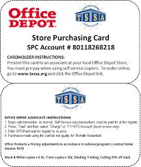 TSSA fice Depot Discounts
