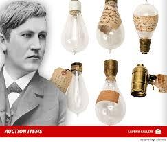 edison light bulbs up for auction tmz