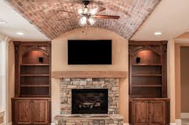 100 Brick Ceiling Luxury Finished Basement Arched Paver