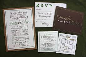 Hunter Green Chocolate Brown Rustic Poster Style Wedding Invitations