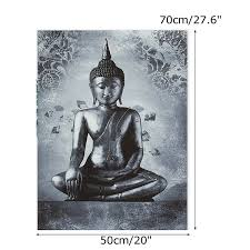 TEMPSA 80X60cm Modern Buddha Tableau Peinture à LHuile Pr Décor Mur