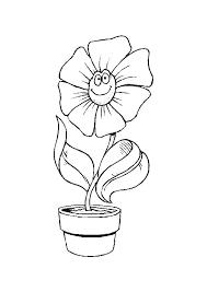 coloriage fleur tournesol en pot