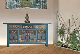 opium outlet sideboard kommode schlafzimmer china asiatisch orientalisch vintage shabby chic stil blau
