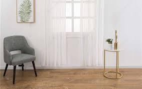 moderne reine reine leinen tull vorhange wohnzimmer
