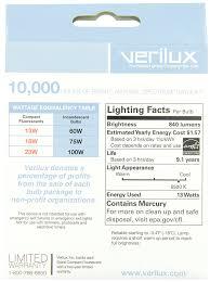 Verilux Floor Lamps Reading by Amazon Com Verilux 13 Watt Natural Spectrum Spiral Compact