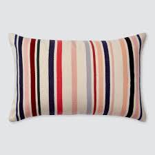 decorative lumbar pillow multicolor stripes the citizenry