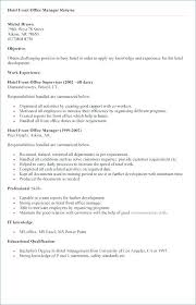 Photo Gallery Of The Hotel Manager Resume Samples