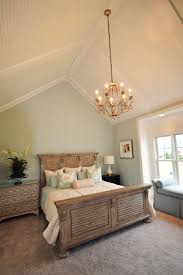 Hanging Drywall On Angled Ceiling by Seaside Master Bedroom With Vaulted Ceiling With Low Profile
