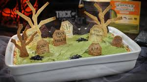 Pumpkin Barfing Guacamole Tasty by Halloween Recipe Graveyard Dip Wholly Guacamole Youtube