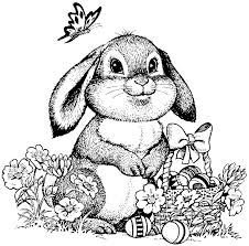 Easter Coloring Pages For Adults Bunny