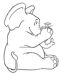 Baby Elephant Printable Coloring Pages Free Shower Decorations Invitations Elephants Playing Together Mice For Kids
