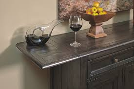 Ashley Furniture Buffet This Dining Room Server Topped In Beautiful Planked Wood And Drop Down