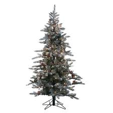 Pre Lit Flocked Artificial Christmas Trees by Sterling 6 Ft Pre Lit Lightly Flocked Mckinley Pine Artificial