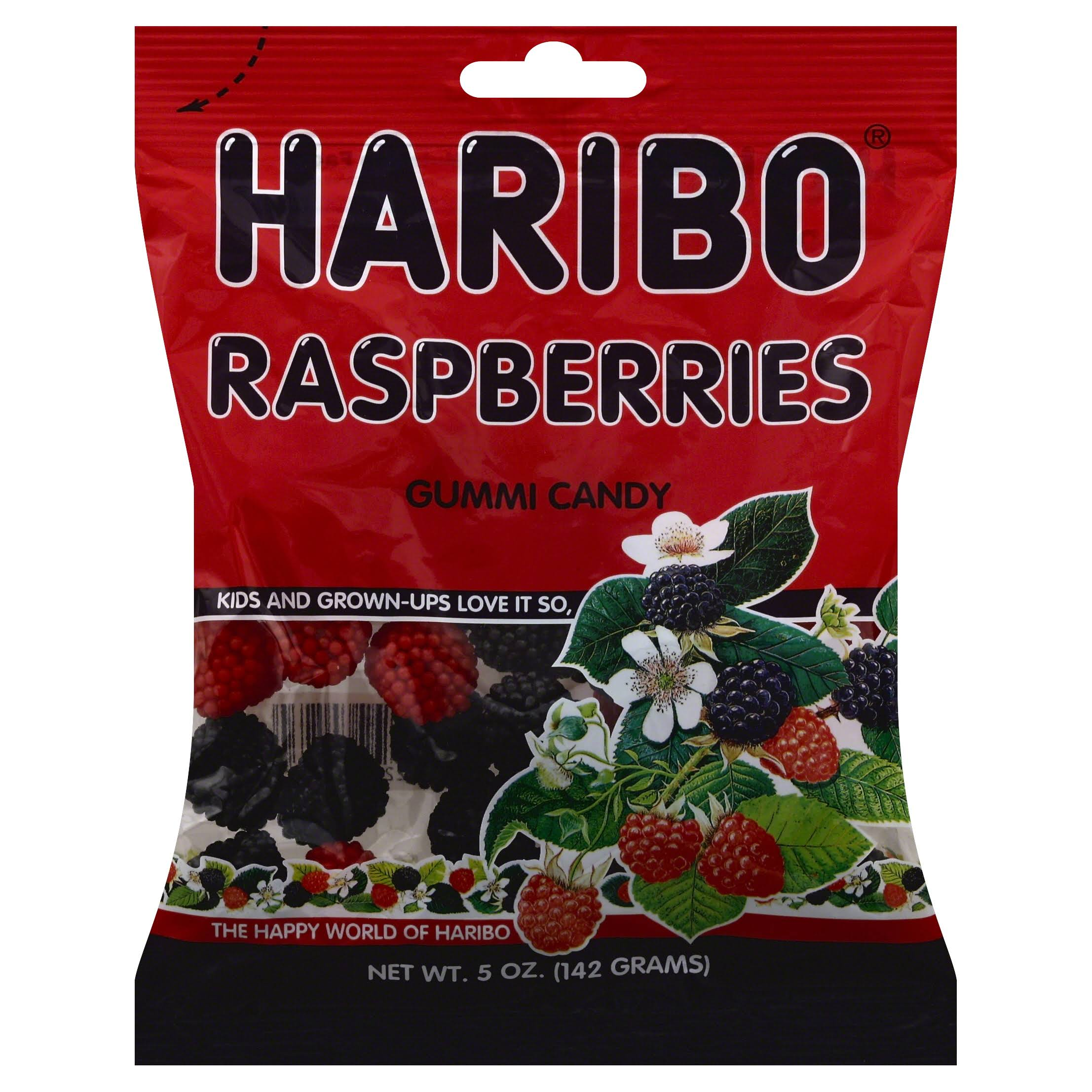 Haribo Gummi Candy - Raspberries