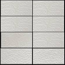 inch white silver metallic glass subway tile
