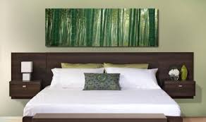 chambre avec tete de lit tête de lit avec rangement fonctionnel et esthétique
