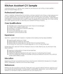 Resume Template Kitchen Helper Create This