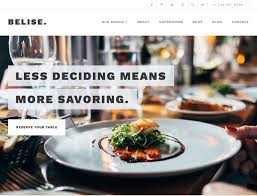 Chances Are You Want Your Food Service Website To Put The Focus On Restaurant And What Makes It Unique Fortunately Belise Is A Highly Customizable