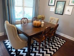 Image Of Black And White Rugs For Dining Room Table