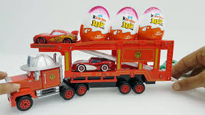 Disney Pixar Cars Mack Truck Hauler Learning Colours With Trucks ...