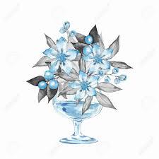 100 Flannel Flower Glass Stock Illustration