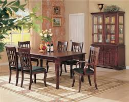 100500 7 Pc Newhouse Rectangular Dining Table Dark Cherry Wood Finish Set In A Contemporary Style