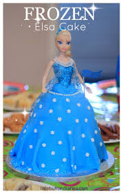 frozen elsa cake tutorial from little button diaries