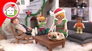 playmobil familie hauser weihnachten im wohnhaus winterdeko pimp my playmobil