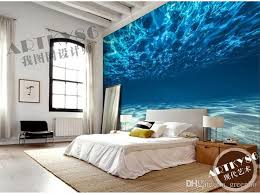 Charming Deep Sea Photo Wallpaper Custom Ocean Scenery Large Mural Wall Painting Room Decor Silk
