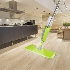green ikayaa stainless steel microfiber spray mop mop
