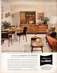 1957 Impact By Willett Furniture Magazine Ad Mid Century Modern Furnishings Retro Room Decor 1950s Vintage
