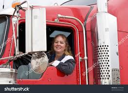 100 Female Truck Driver Woman Leaning Out S Stock Photo 21275290