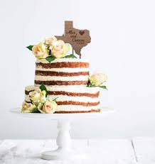 State Cake Topper Rustic Wood Personalized Wedding