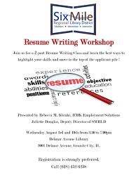 Resume Writing Six Mile Regional Library District