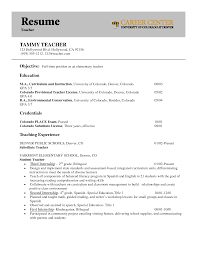 Resume Examples Objective Of Teach High School Chemistry With Teaching