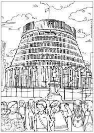 Beehive Wellington Colouring Page