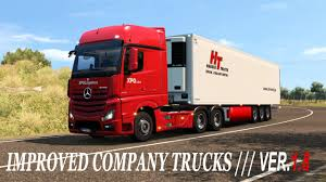 100 Panther Trucking Company IMPROVED COMPANY TRUCKS V18 ETS2 Mods Euro Truck