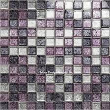 lila weiß schwarz vereitelt glas mosaik fliesen für küche