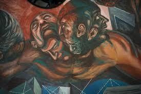 Jose Clemente Orozco Murals by Concluye Restauración De Murales De Orozco En Paraninfo De La Udeg