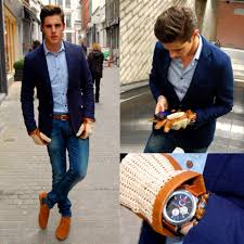 Elegant Jeans With Brown Dress Shoes Boots Men