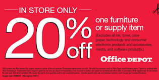 off e Furniture or Supply Item Coupon at fice Depot
