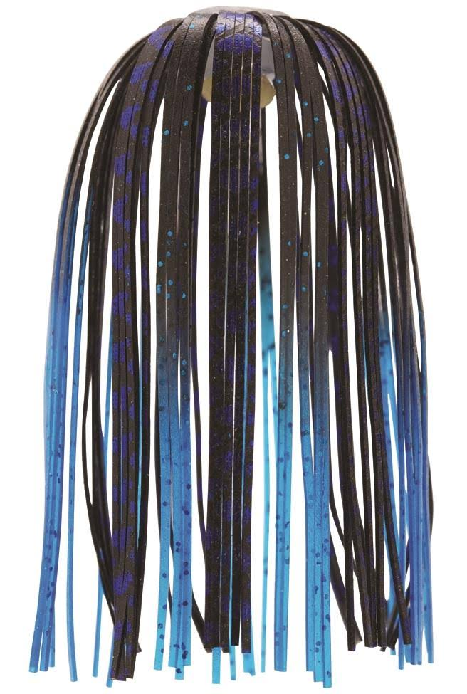 Z-Man EZ-Skirt - Black Blue Chrome/Blue Tips