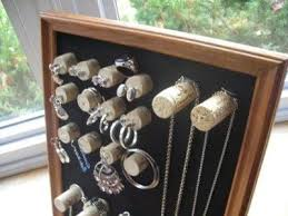 This Wine Cork Jewelry Display Is A Creative Way To Use Up Those Extra Corks And So Useful Too These Also Work Great As Displays Craft