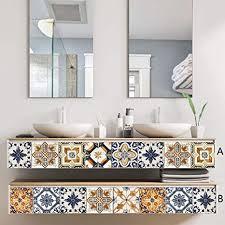 qingmo vintage pattern dekorativer treppenfliesenaufkleber