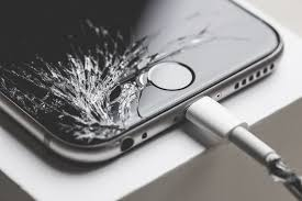 crashed iphone 6 with cracked screen display picjumbo  That