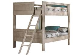 White Full Over Full Bunk Bed with Staircase
