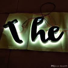 2019 Outdoor Custom 3d Led Lights Letter Signs Advertising Channel