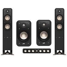 Polk Audio Signature Series 5 Speaker bundle w S20 Bookshelf speakers
