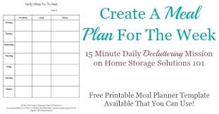 Awesome Weekly Menu Template Best Meal Plans